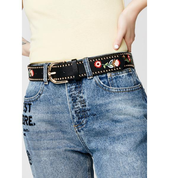 Hippie Hollow Embroidered Belt