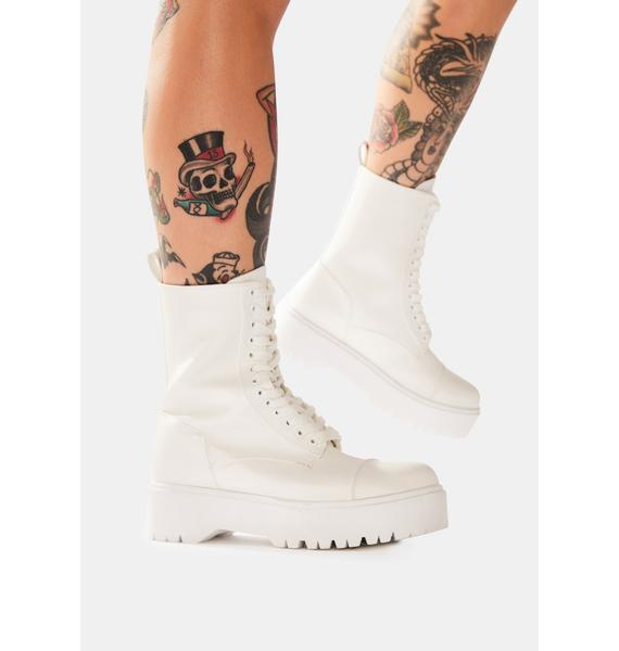 Bone Trouble In Mind Combat Boots