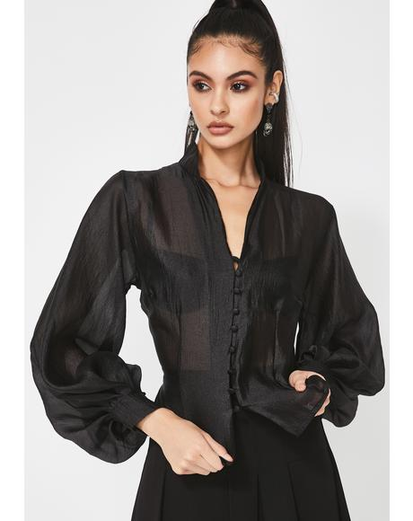 A Lot To Lose Sheer Blouse