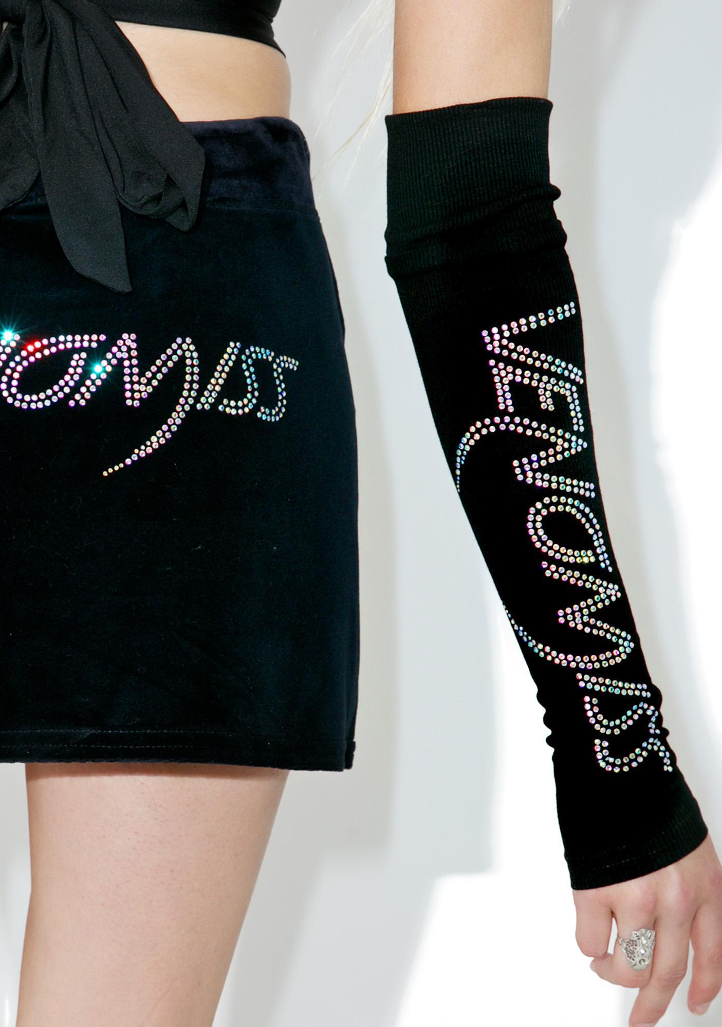 Venomiss NYC Crystal Logo Sleeves