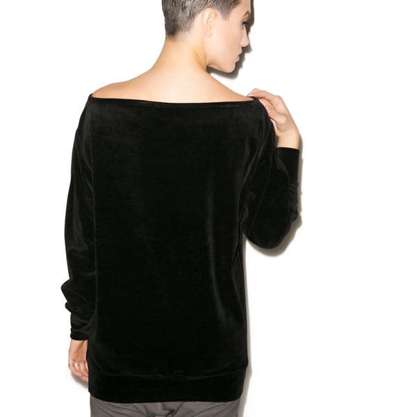 Killstar Midnight Velvet Sweater
