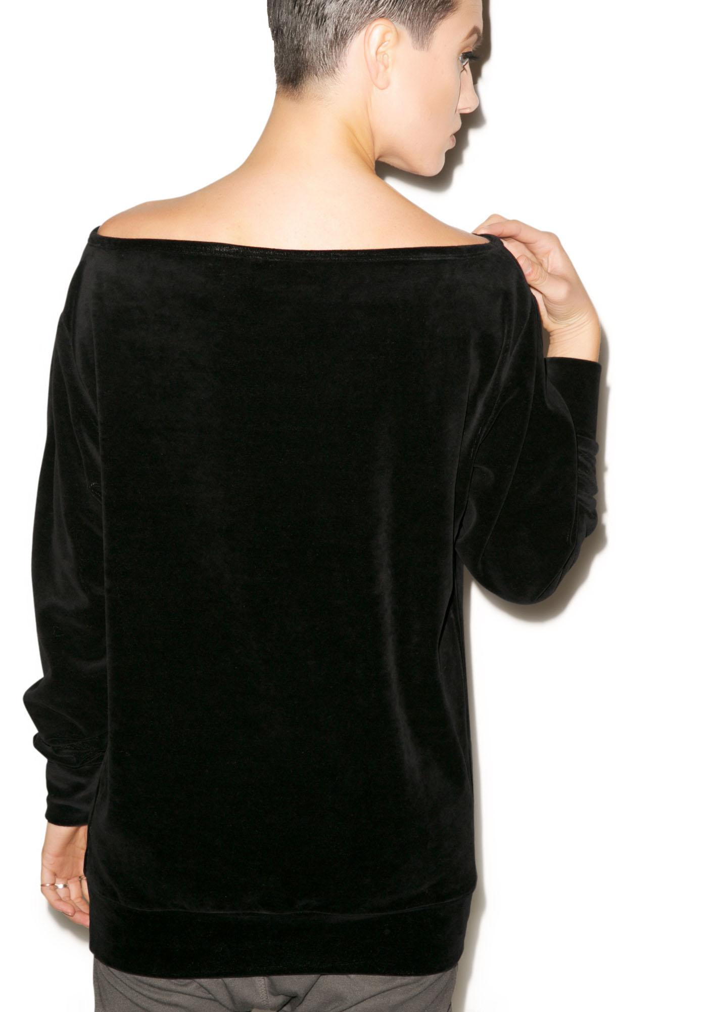 Killstar Midnight Velvet Sweater