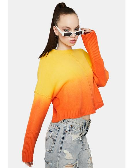 Chasing Sunsets Ombre Sweater