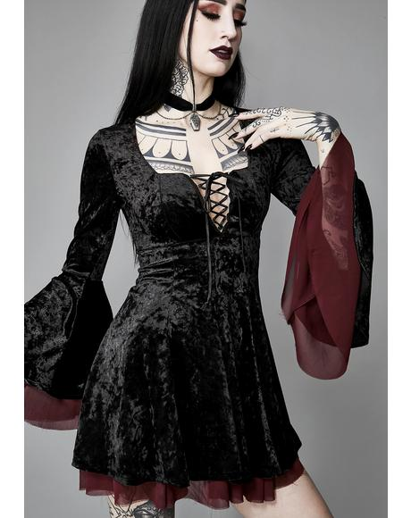 Tempting Enchantress Velvet Dress