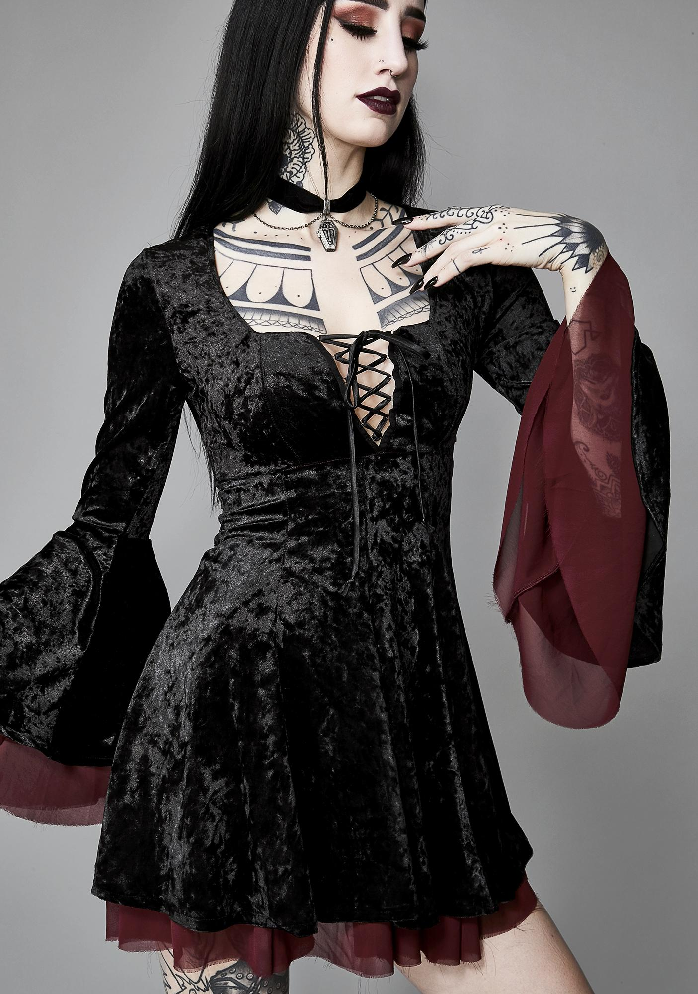 Widow Tempting Enchantress Velvet Dress