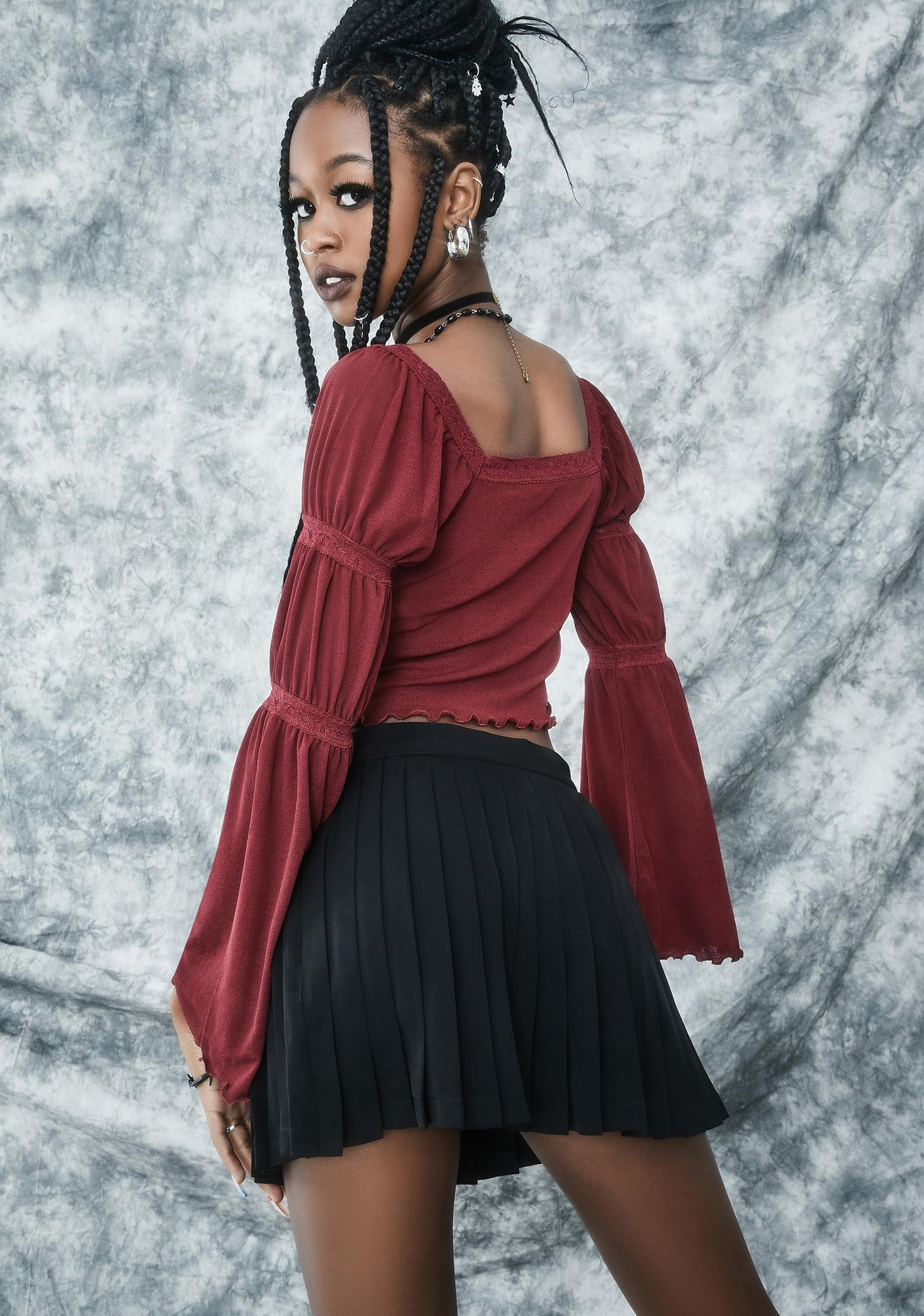 dELiA*s by Dolls Kill Rad Omens Pleated Mini Skirt