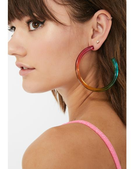 Prism Power Hoop Earrings