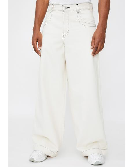 Natural 101 Twin Cannon Wide Leg Jeans