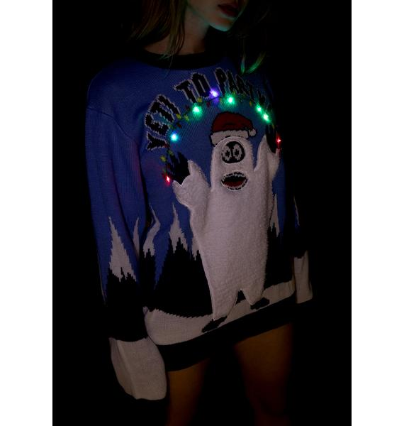 Yeti In The House LED Sweater