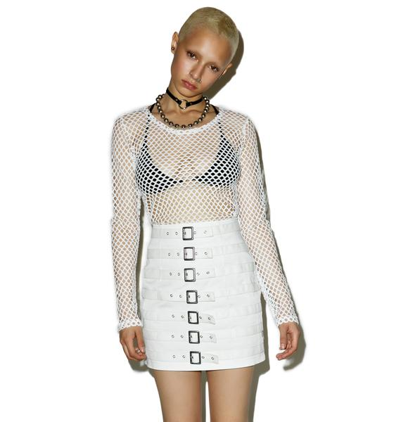 Tripp NYC Divine Buckle Up Skirt