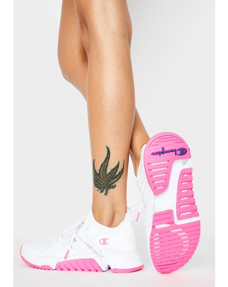 Pink White D1 Sneakers