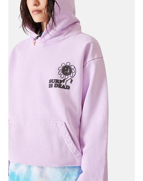 Sad Flower Graphic Hoodie