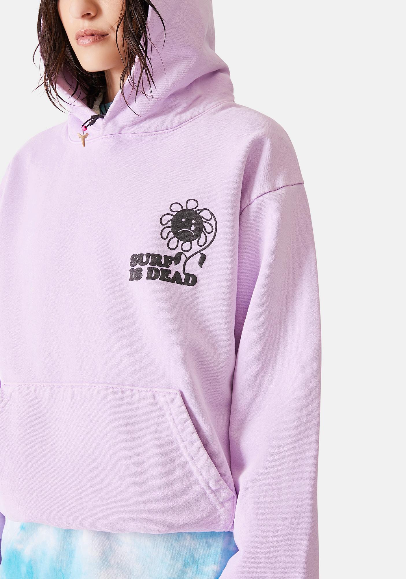 Surf is Dead Sad Flower Graphic Hoodie