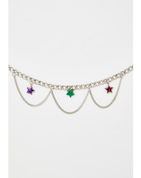 Star Sparkle Chain Necklace