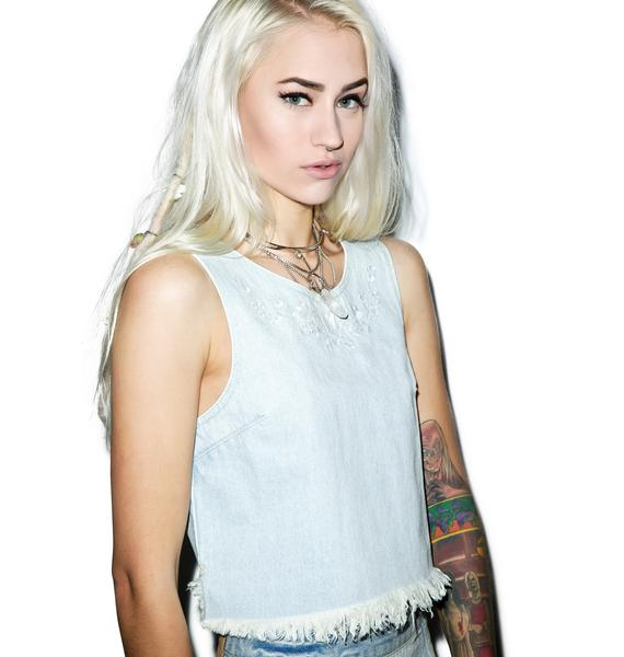 Somedays Lovin Moku Rigid Denim Shell Top