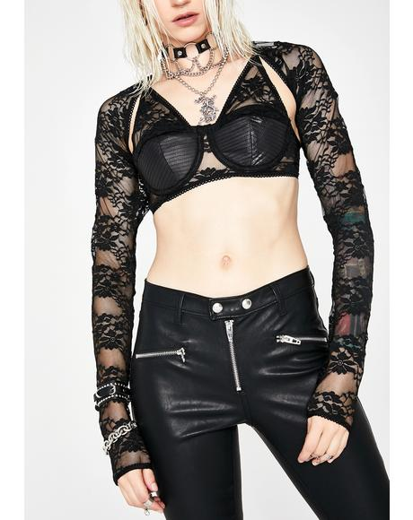 Lace Lover Shrug Bustier