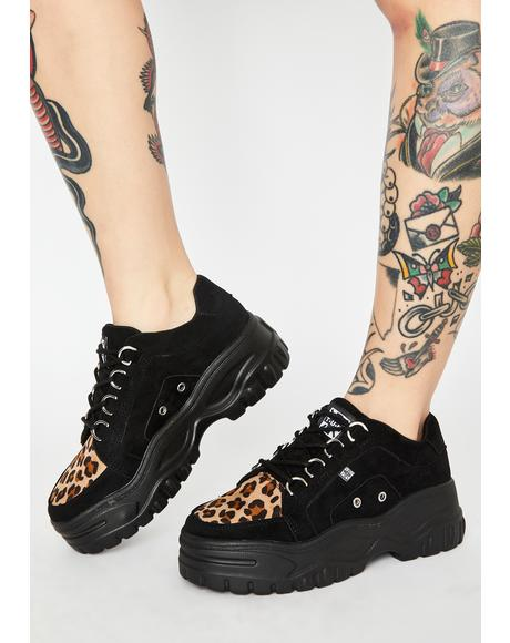 Leopard Suede Wave Creeper Sneakers