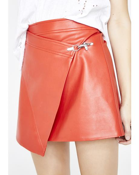 Safe Word Wrap Skirt