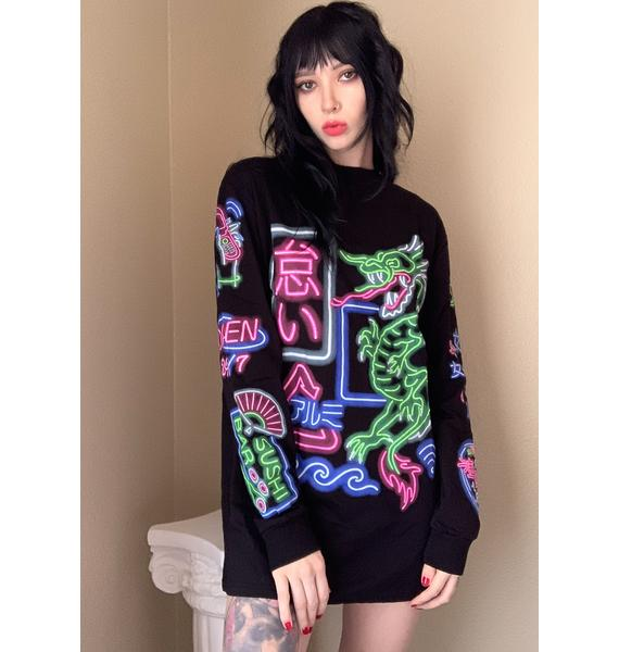 Current Mood Neon City Graphic Tee