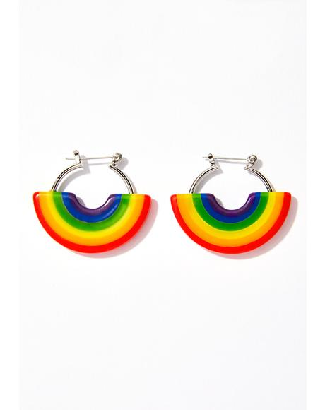 Color Me Happy Hoop Earrings