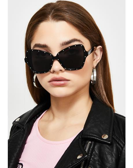 Who Asked U Rhinestone Sunglasses