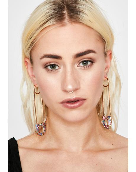 Pin Ups Rhinestone Earrings