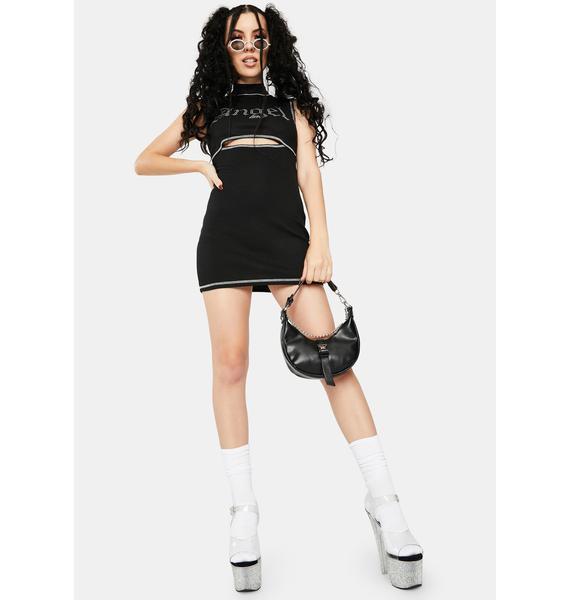 ZEMETA Angel Ribbed Bodycon Dress