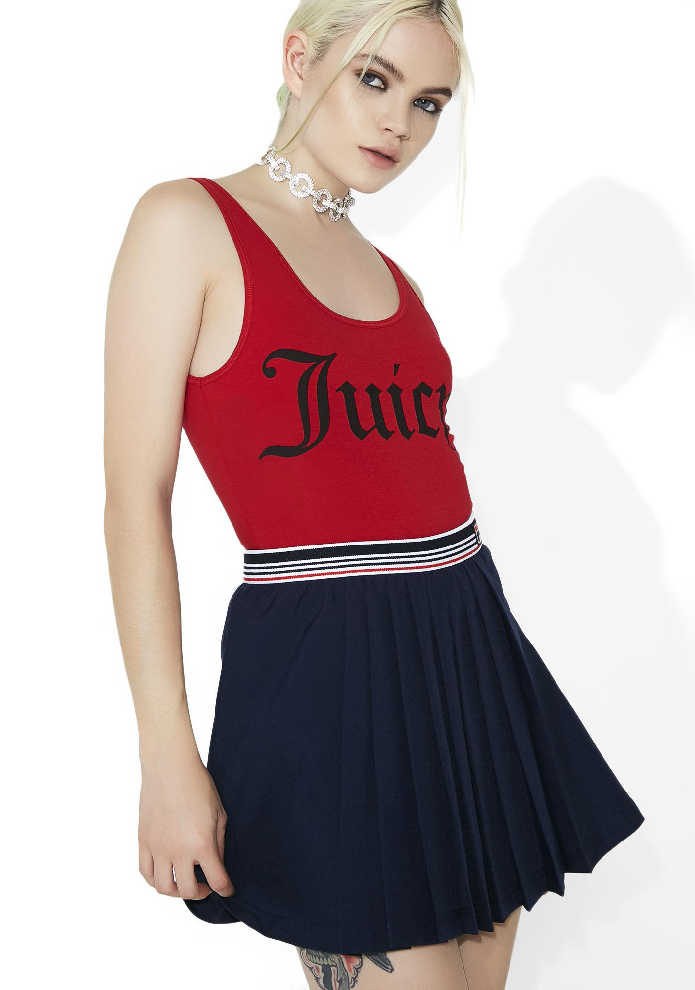 JUICY COUTURE Graphic Scoop Neck Bodysuit
