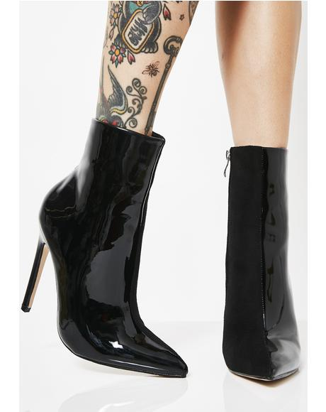 Yuri Contrast Stiletto Heel Ankle Boot