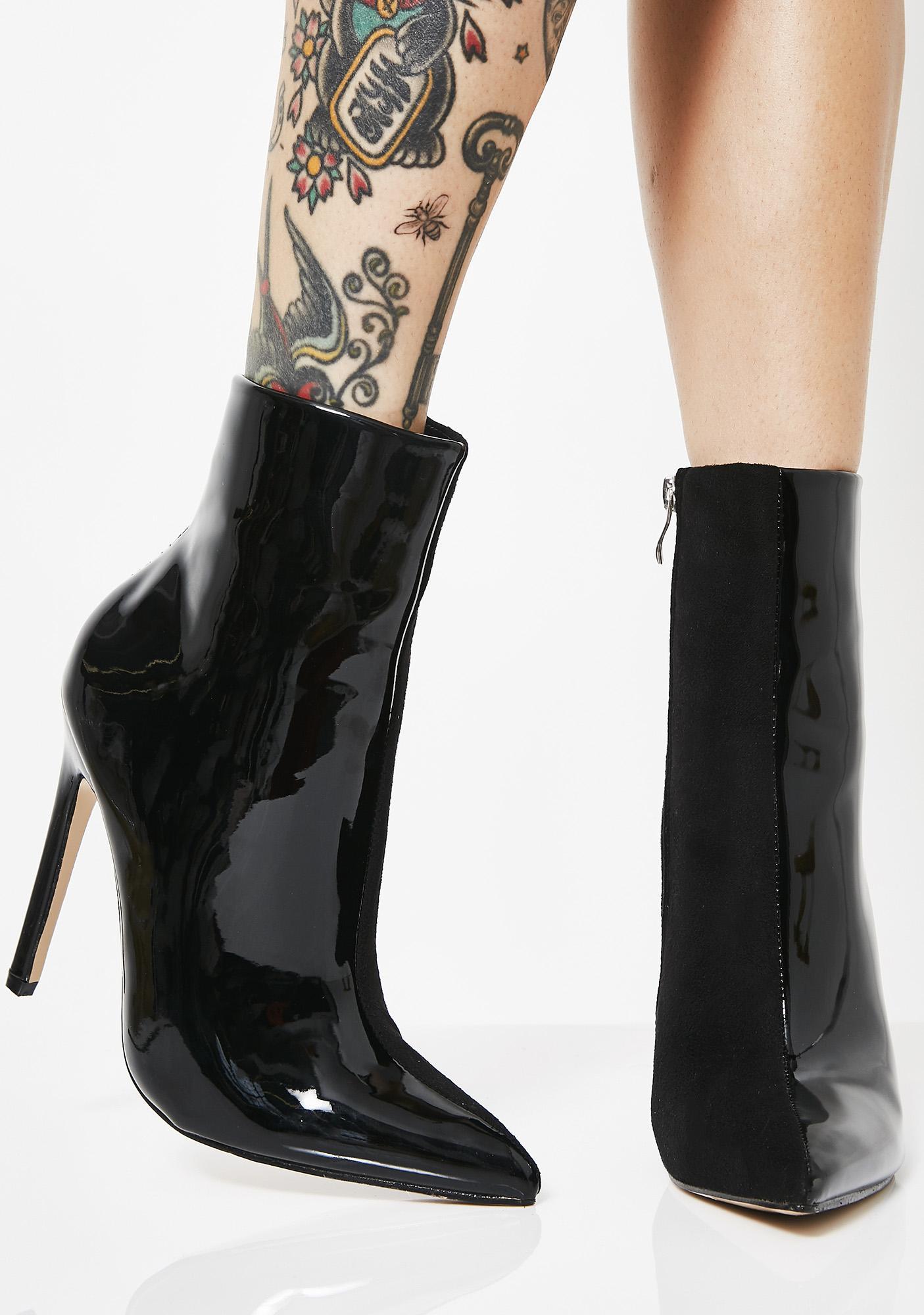 Yuri Contrast Stiletto Heel Ankle Boots by Public Desire