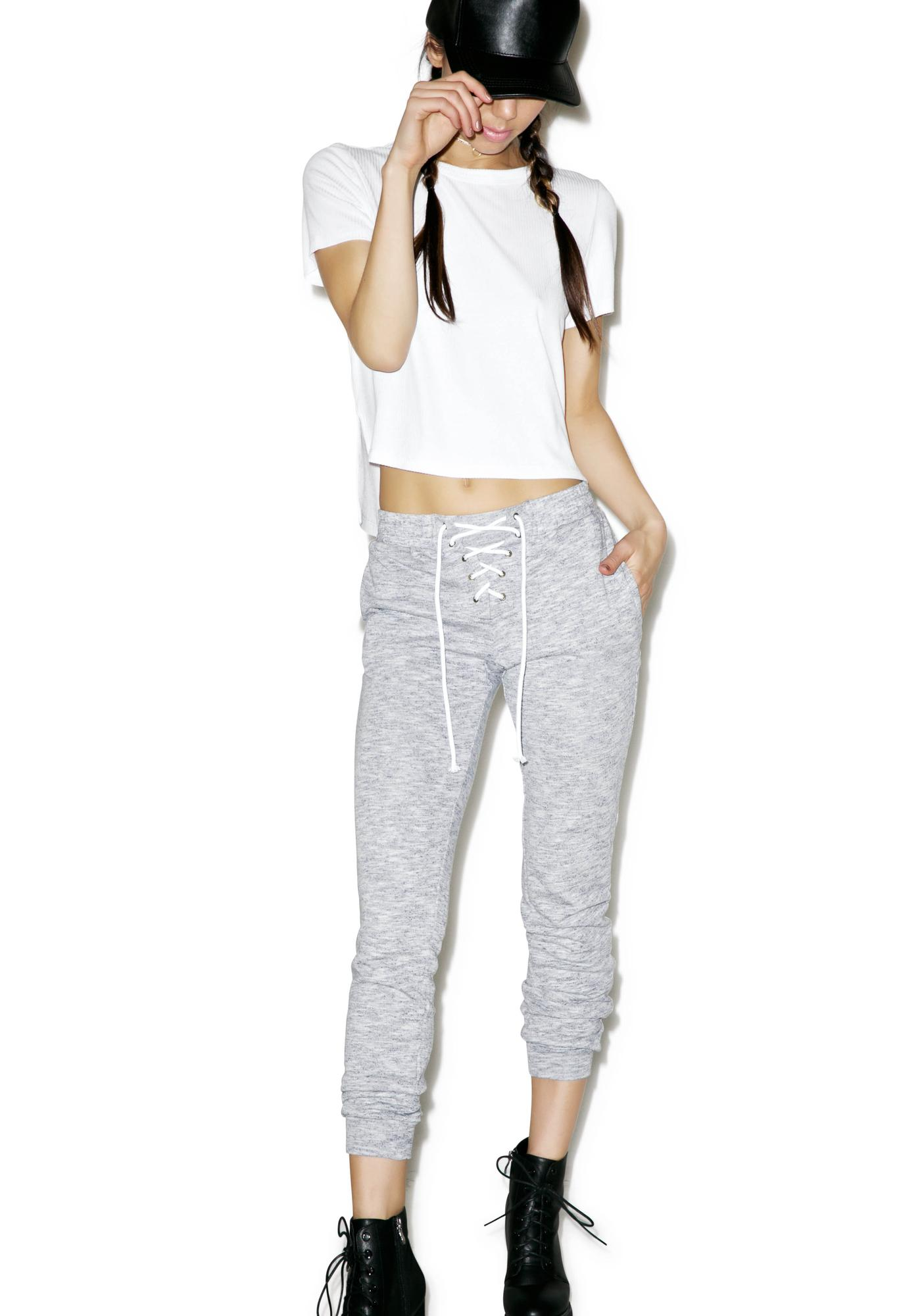 Glamorous Point Guard Lace Up Sweats