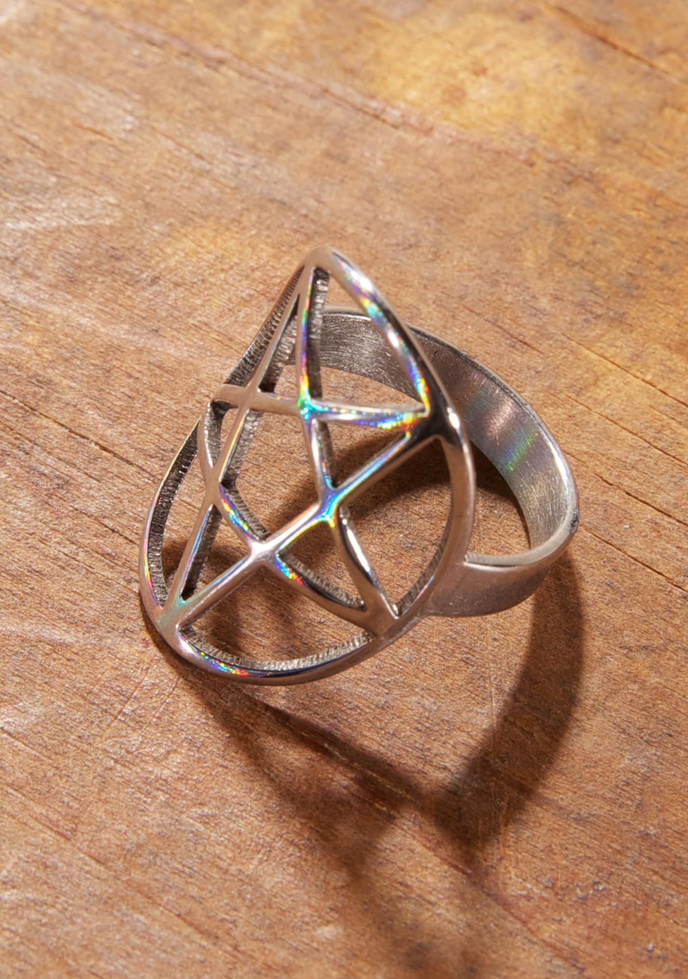 Killstar Pentagram Ring