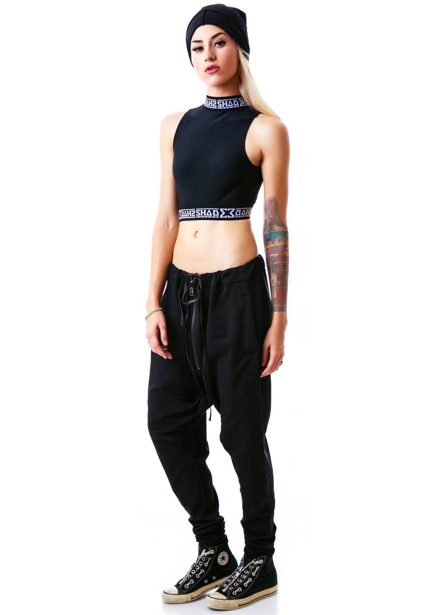 Shade London So Shadey Polo Crop Top