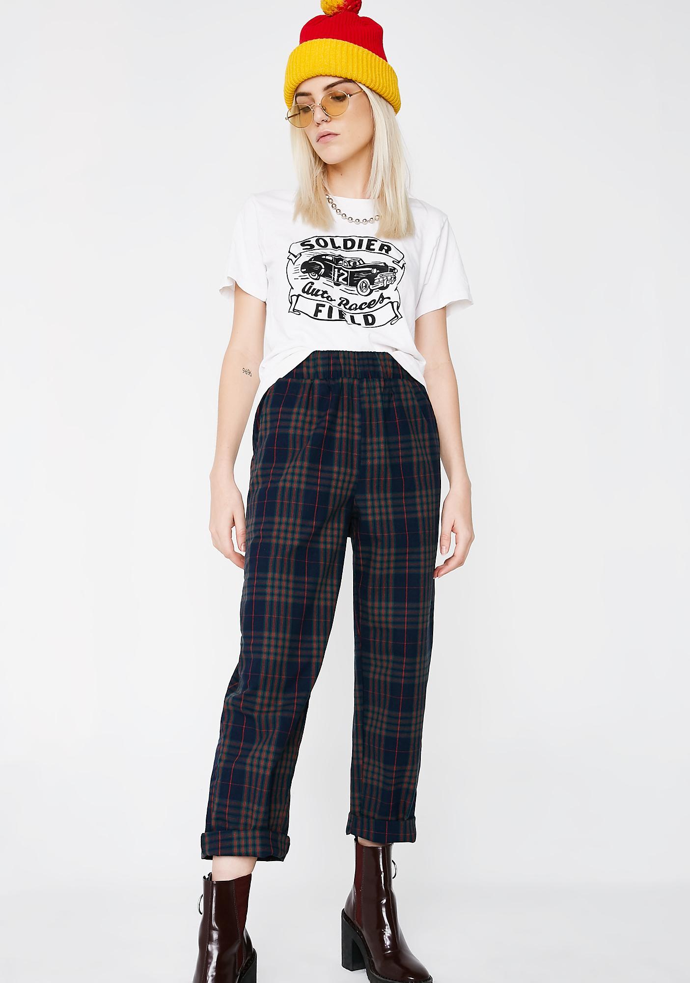 Sapphire Trend Settin' Plaid Pants
