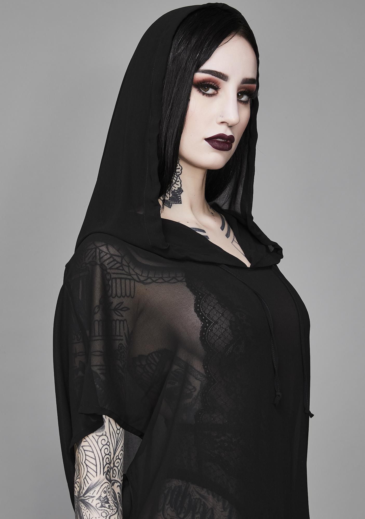 Widow Aphotic Priestess Chiffon Tunic