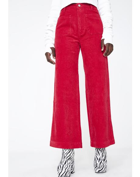Cord Sailor Pants