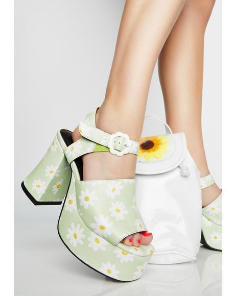 Sunny Skies Platform Heels