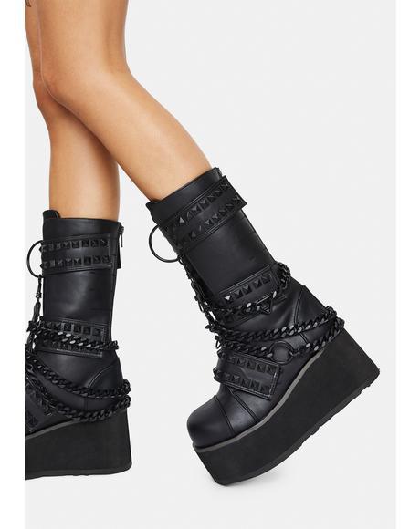Watch Yourself Studded Platform Boots
