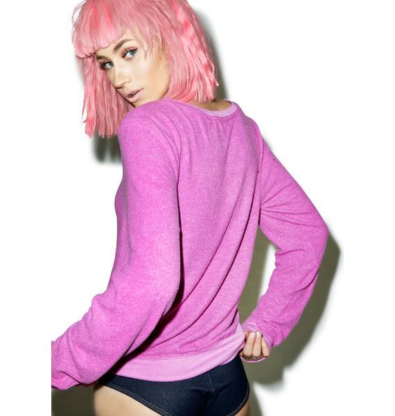 Wildfox Couture Girl Power Baggy Beach Jumper