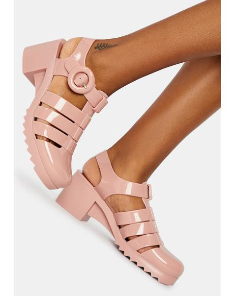 Blush Vancouver Jelly Sandals