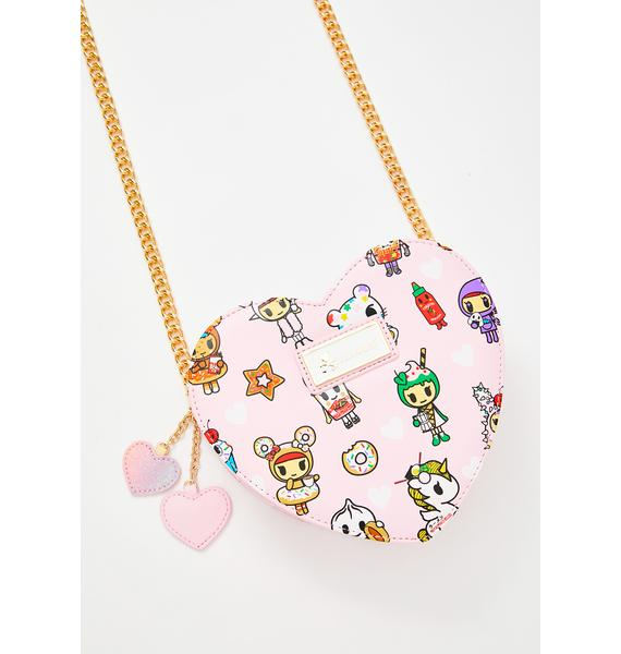 Tokidoki Toki Takeout Heart Shaped Crossbody Bag