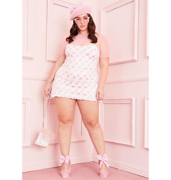 Sugar Thrillz Last Kiss From A Rose Mesh Dress
