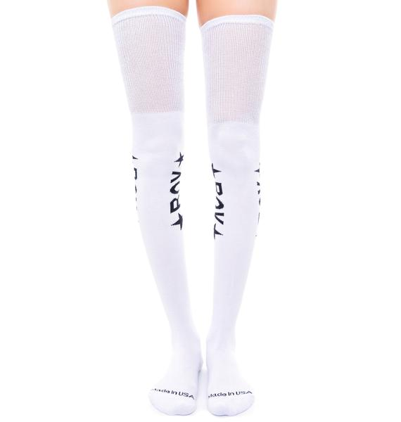 BOY London BOY Star Thigh High Socks