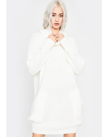 Ivory Somber Songs Sweater Dress