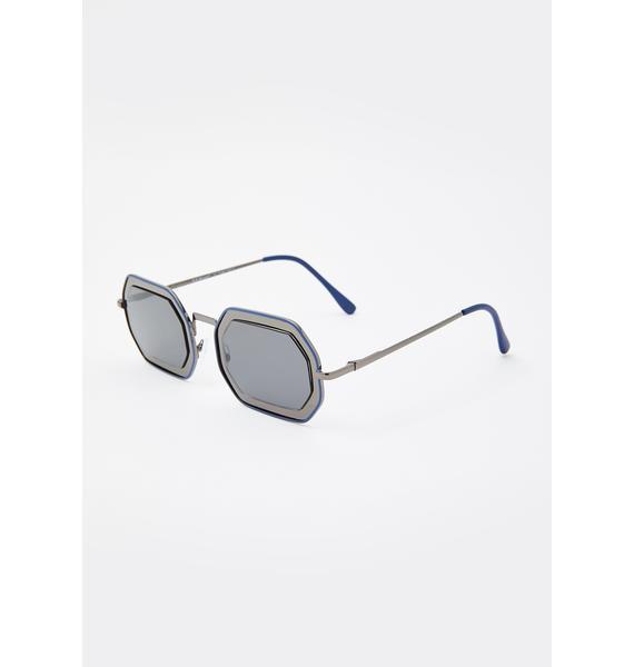 Rockstar Conduct Oval Sunglasses
