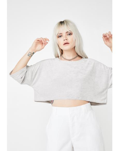 Skater Chic Velour Crop Top