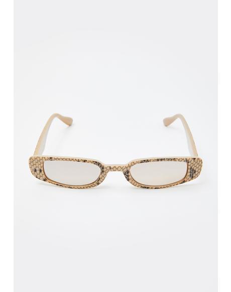 Toxic Vibes Snakeskin Sunglasses