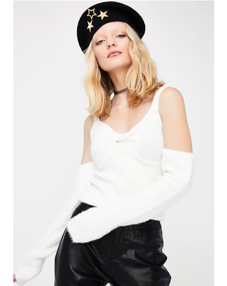 Too Fly Cold Shoulder Sweater