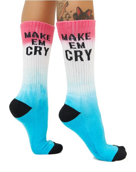 Make Em Cry Crew Socks
