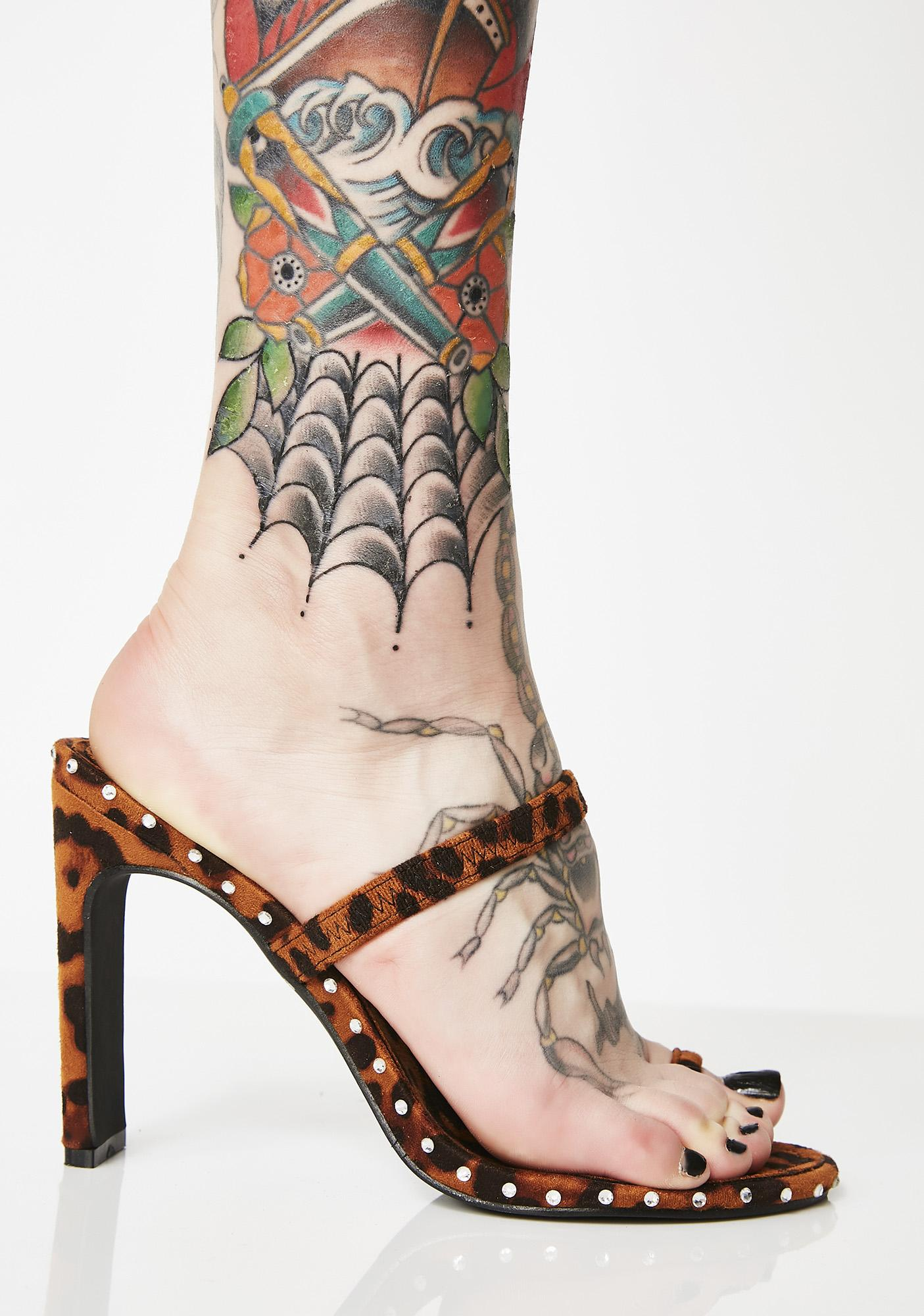 Crazy On You Studded Heels